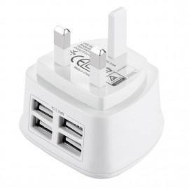 4 USB Fast Charge Wall Plug