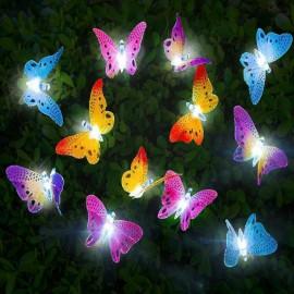 12pc Solar Butterfly Light
