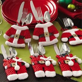 4 x Mini Santa Cutlery Holders
