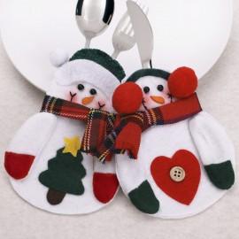 4 x Mini Snowman Cutlery Holders