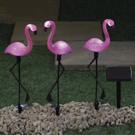 3pc Solar Flamingos